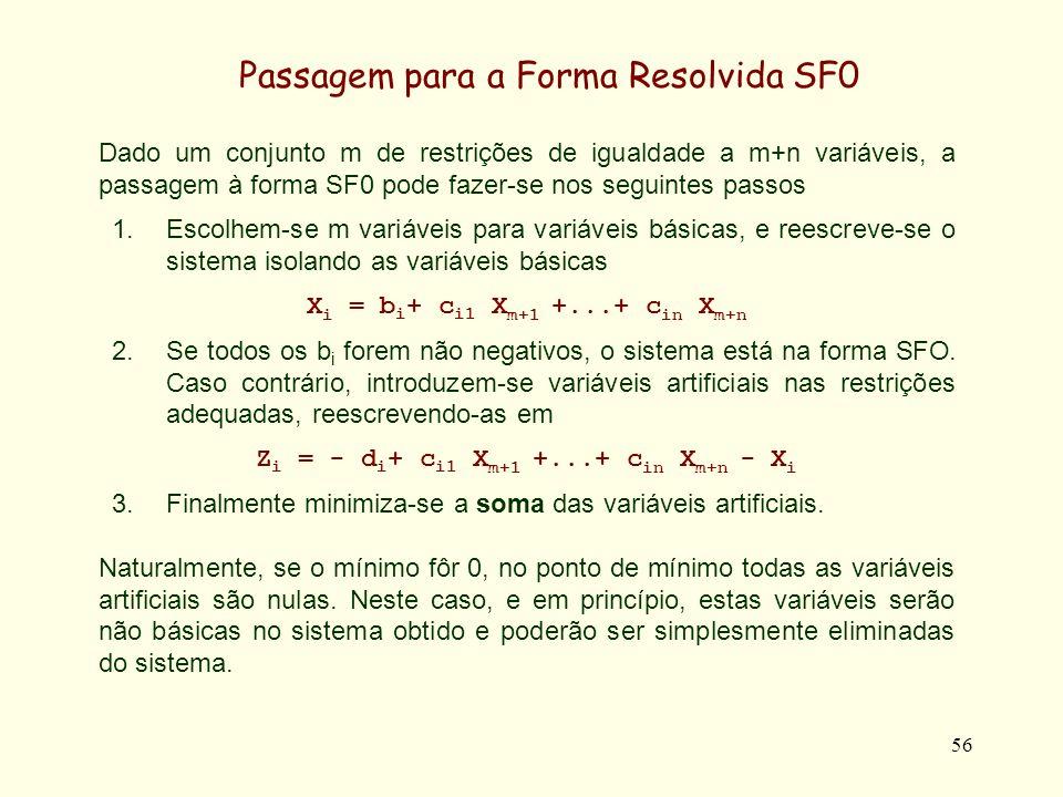 Passagem para a Forma Resolvida SF0