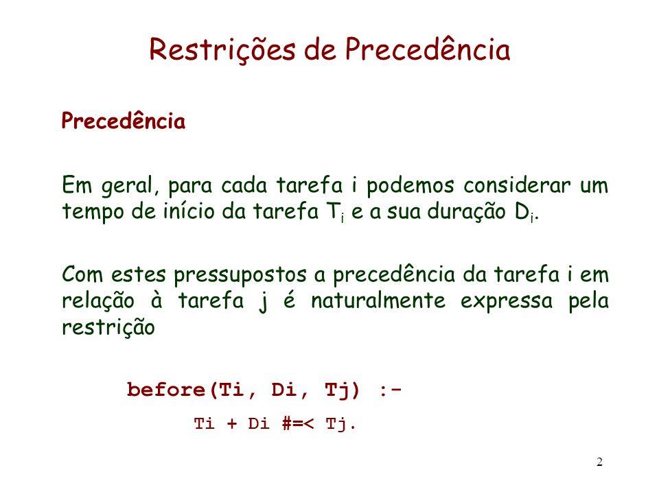Restrições de Precedência
