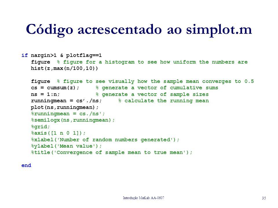 Código acrescentado ao simplot.m