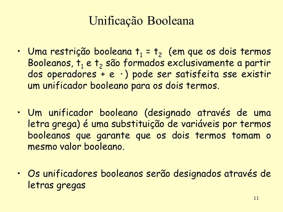 Unificação Booleana