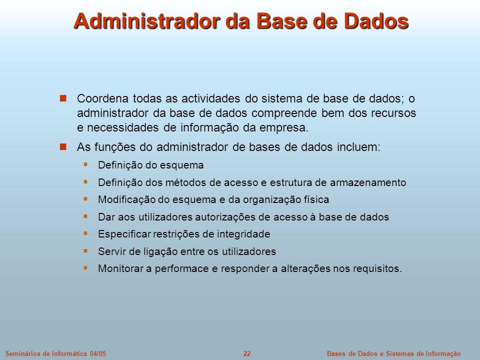 Administrador da Base de Dados