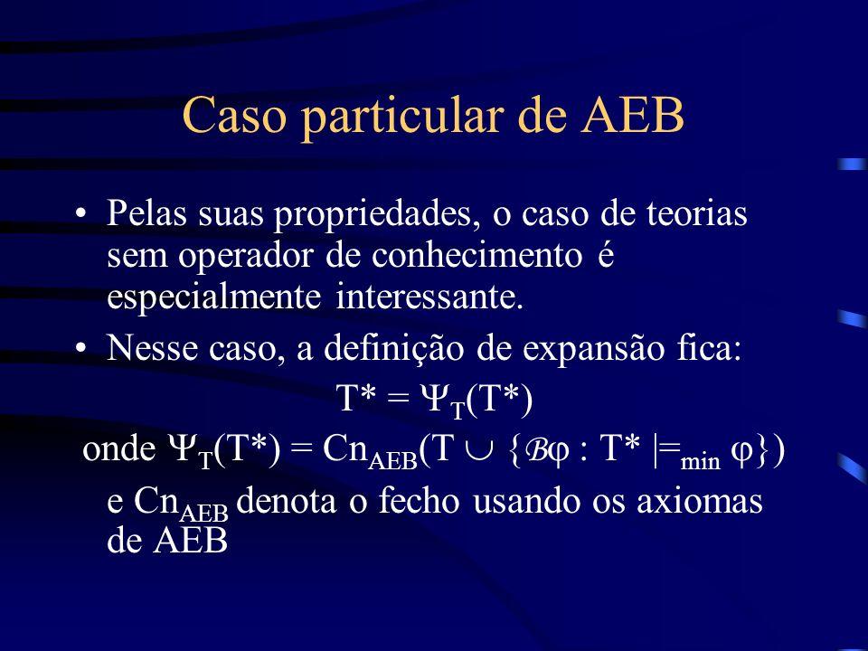 onde YT(T*) = CnAEB(T  {Bj : T* |=min j})
