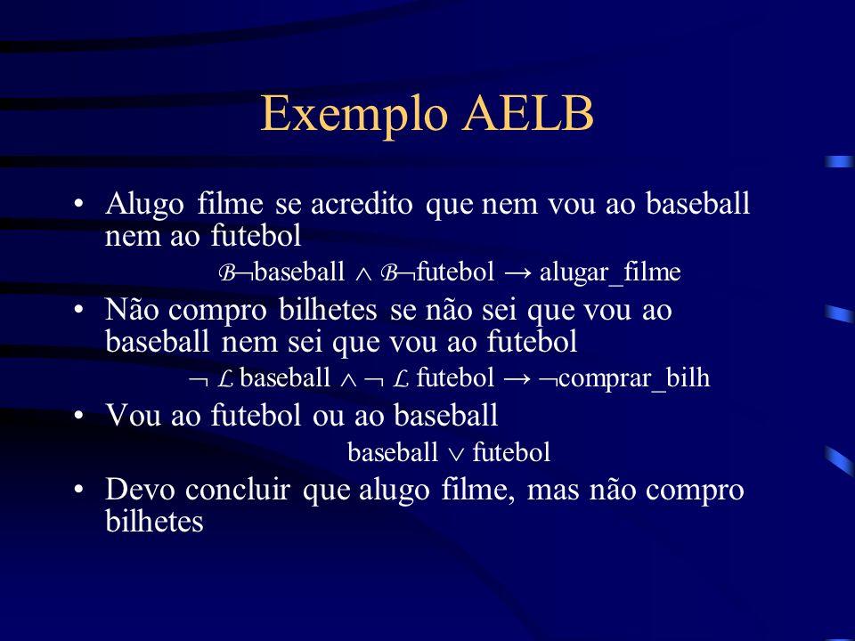 Exemplo AELB Alugo filme se acredito que nem vou ao baseball nem ao futebol. Bbaseball  Bfutebol → alugar_filme.