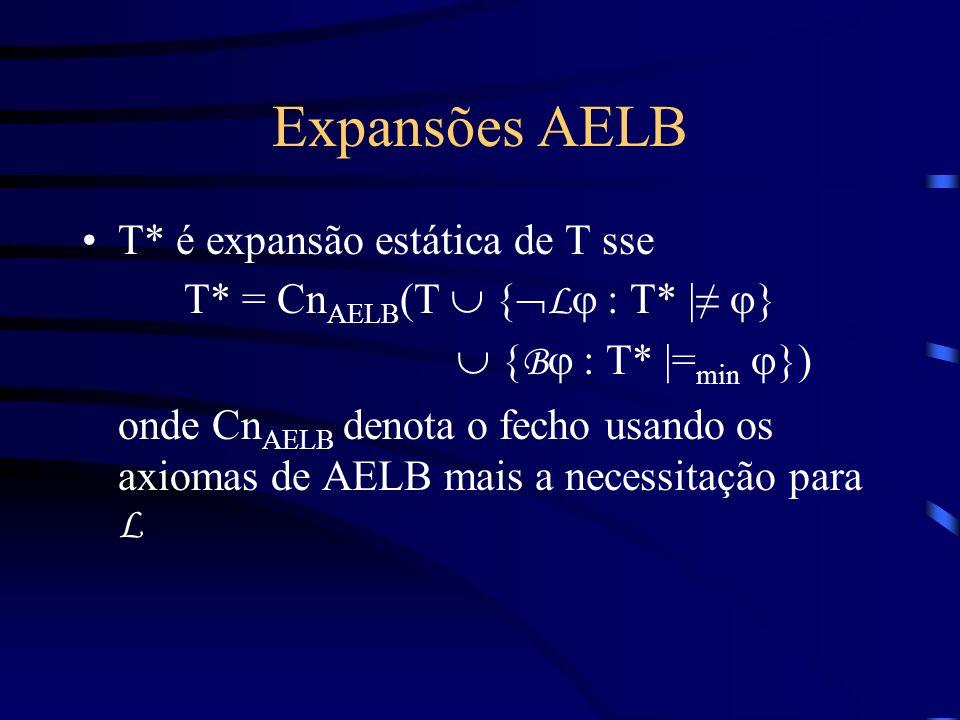 T* = CnAELB(T  {Lj : T* |≠ j}