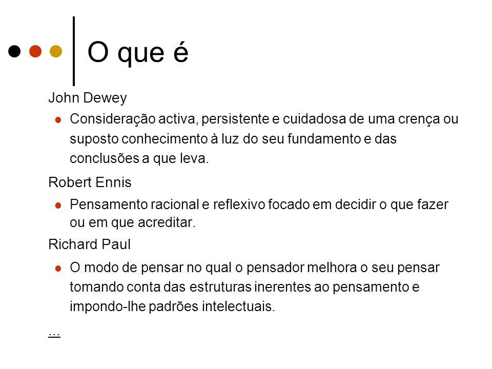 O que é John Dewey Robert Ennis Richard Paul ...