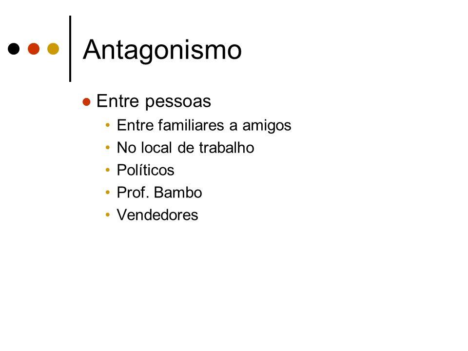 Antagonismo Entre pessoas Entre familiares a amigos