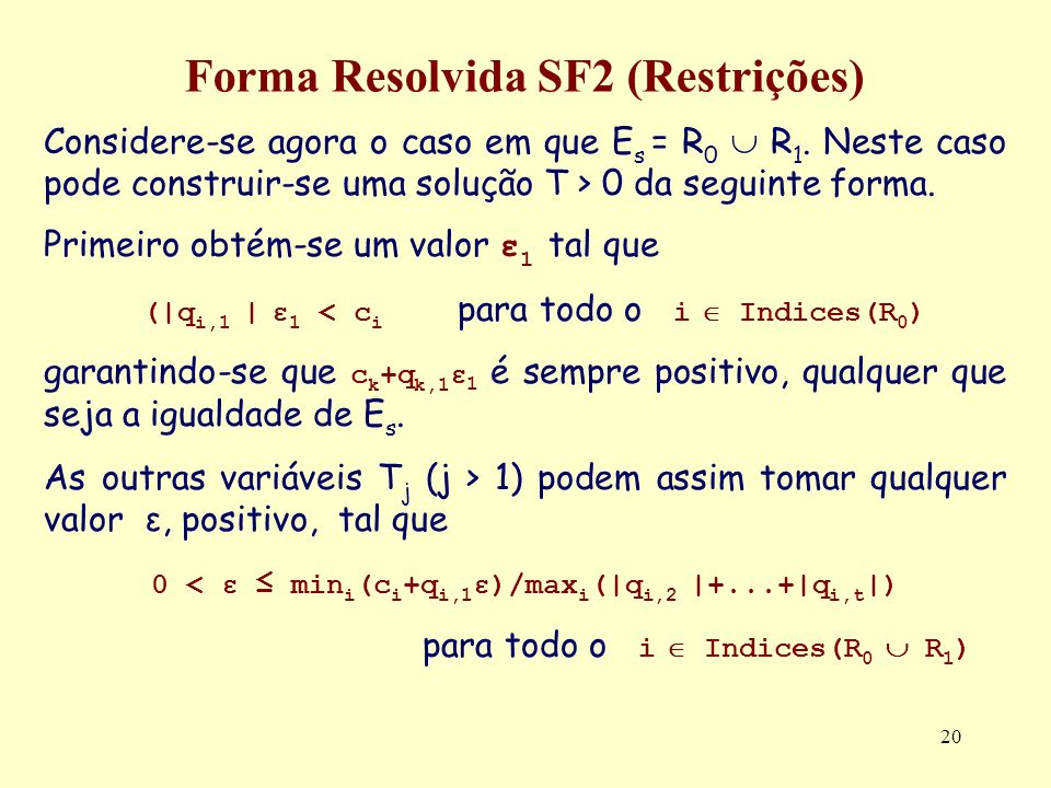 Forma Resolvida SF2 (Restrições)