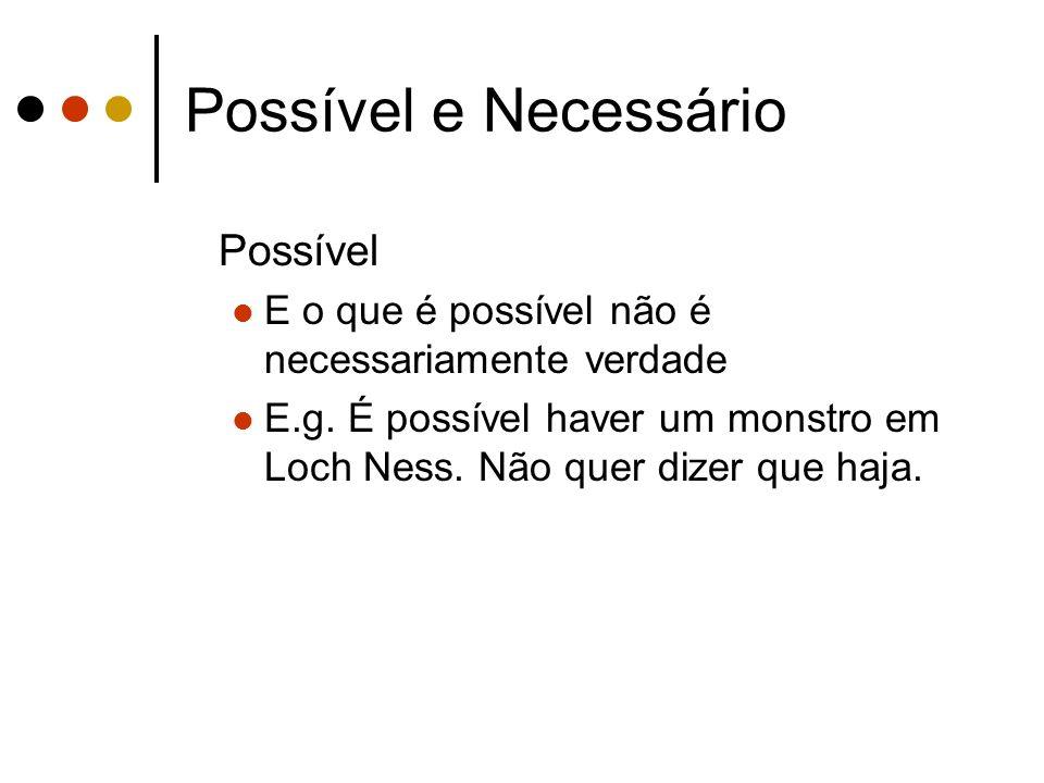 Possível e Necessário Possível