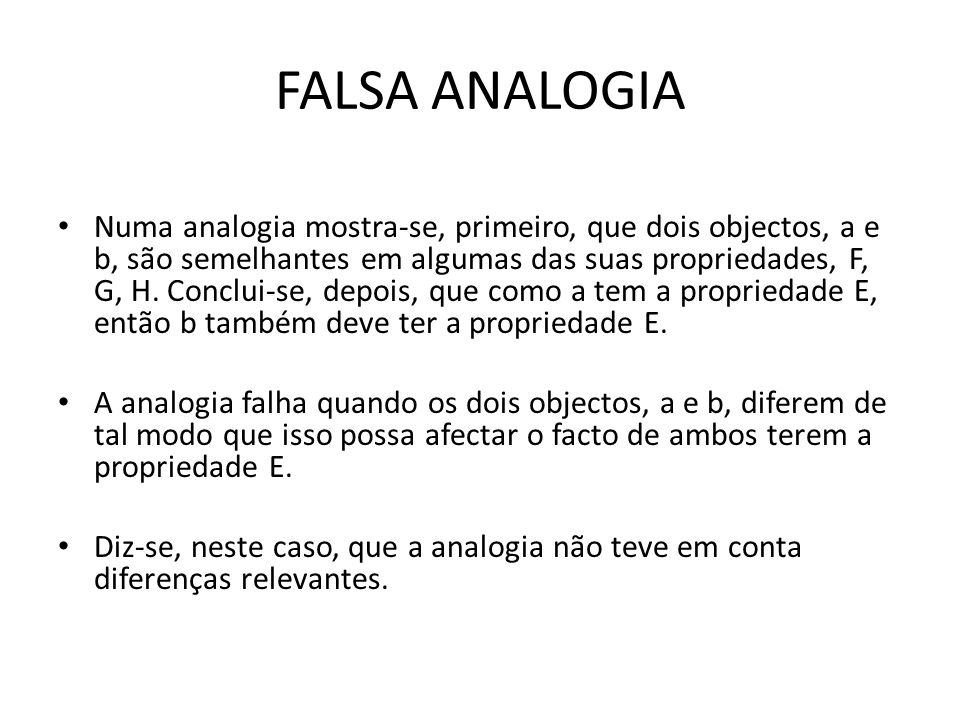 FALSA ANALOGIA