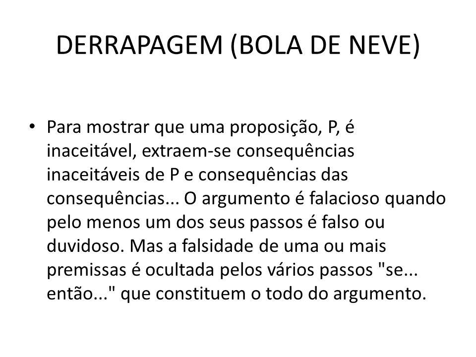 DERRAPAGEM (BOLA DE NEVE)