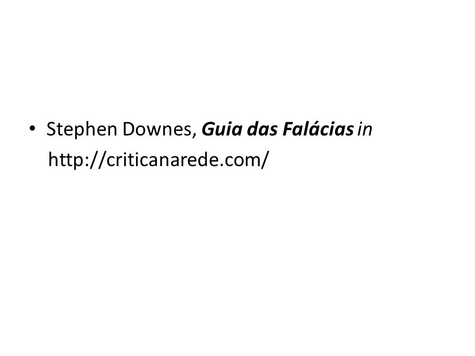 Stephen Downes, Guia das Falácias in