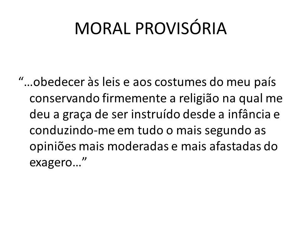 MORAL PROVISÓRIA