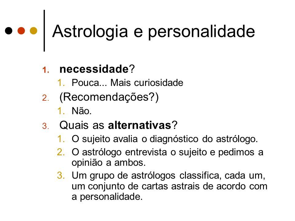 Astrologia e personalidade