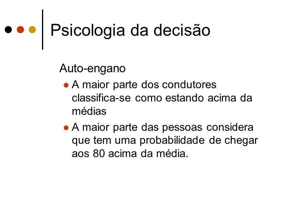 Psicologia da decisão Auto-engano
