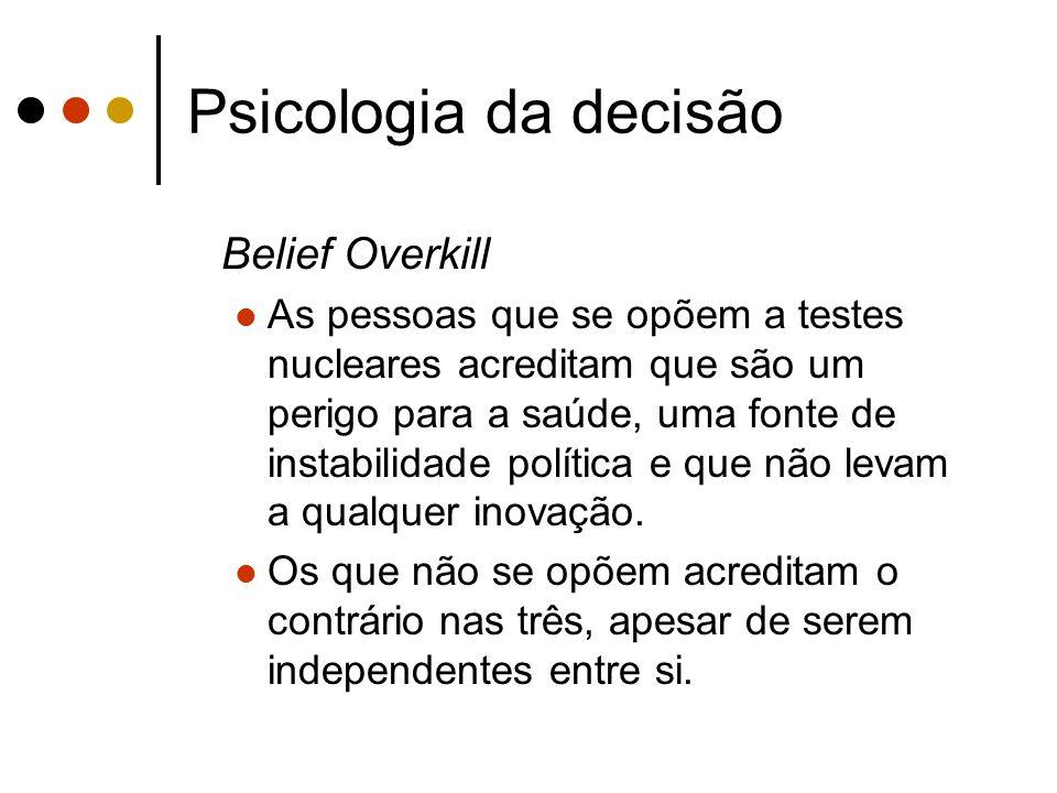Psicologia da decisão Belief Overkill