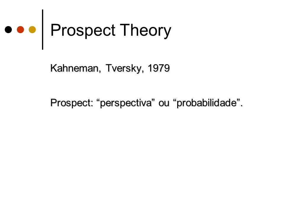 Prospect Theory Kahneman, Tversky, 1979
