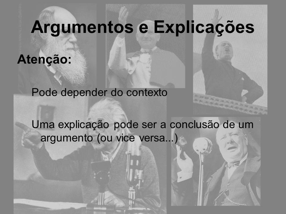 Argumentos e Explicações