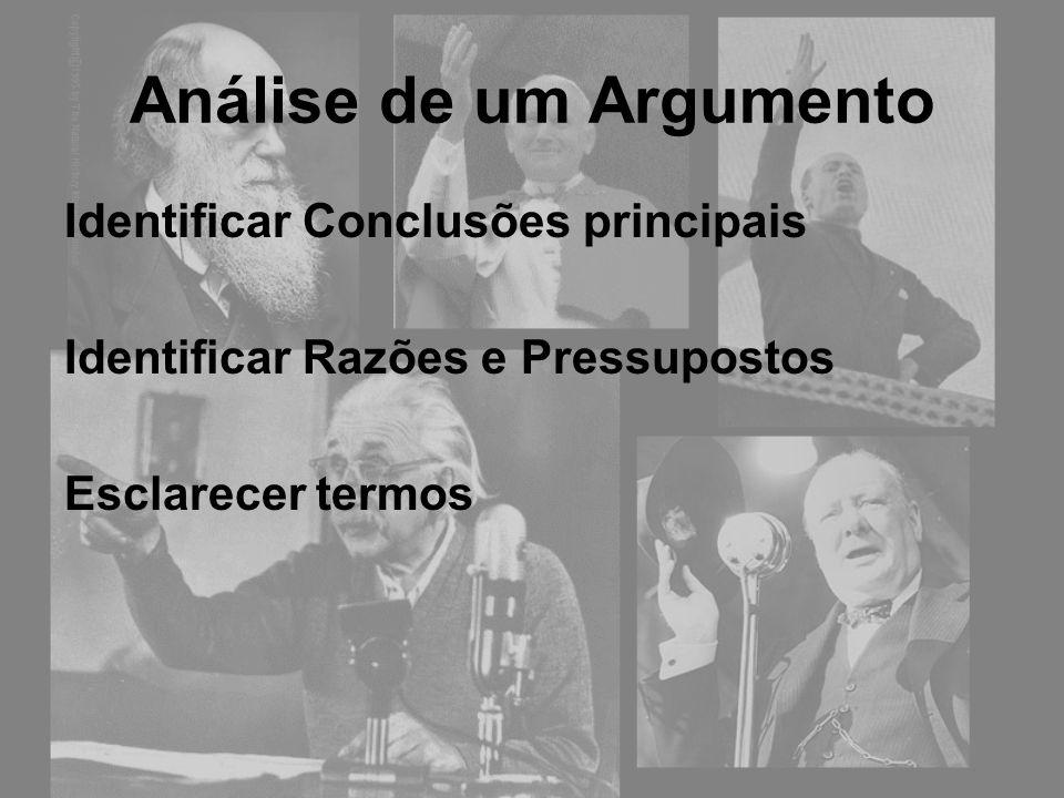 Análise de um Argumento