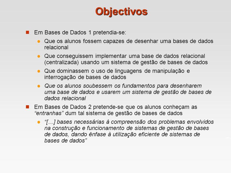 Objectivos Em Bases de Dados 1 pretendia-se: