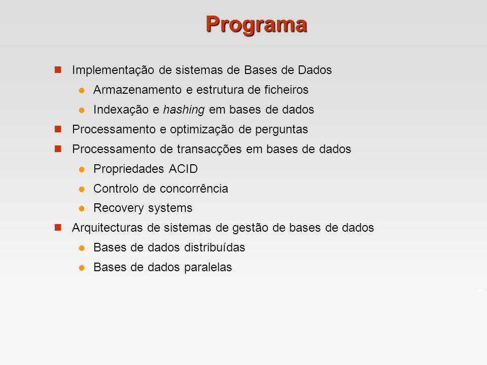 Programa Implementação de sistemas de Bases de Dados