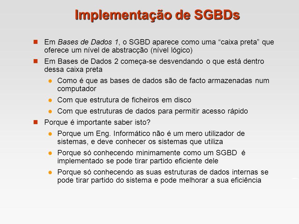 Implementação de SGBDs
