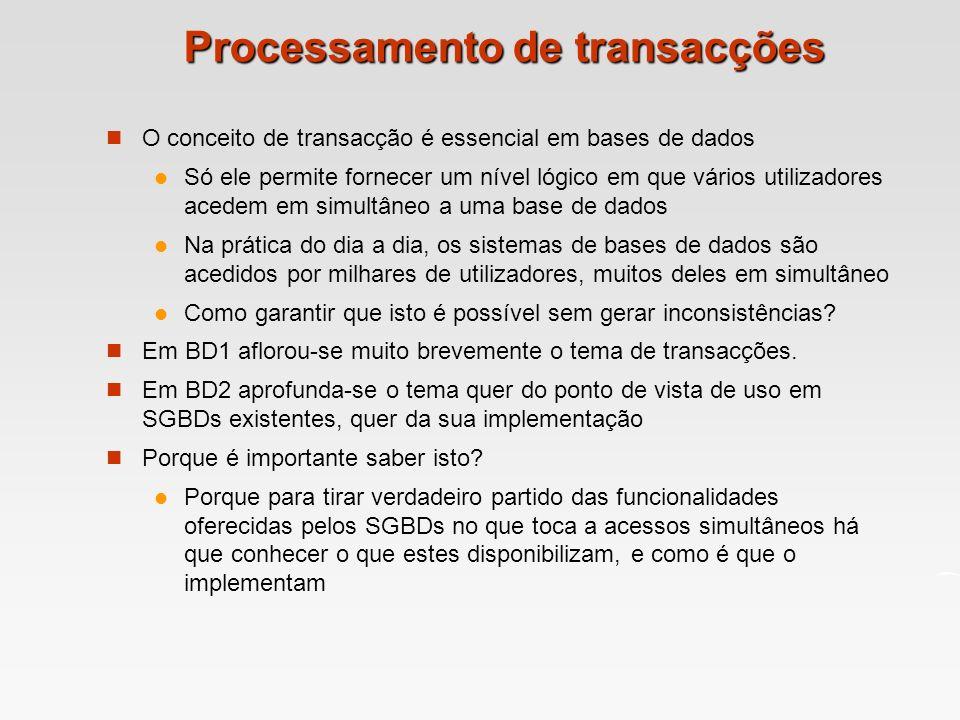 Processamento de transacções