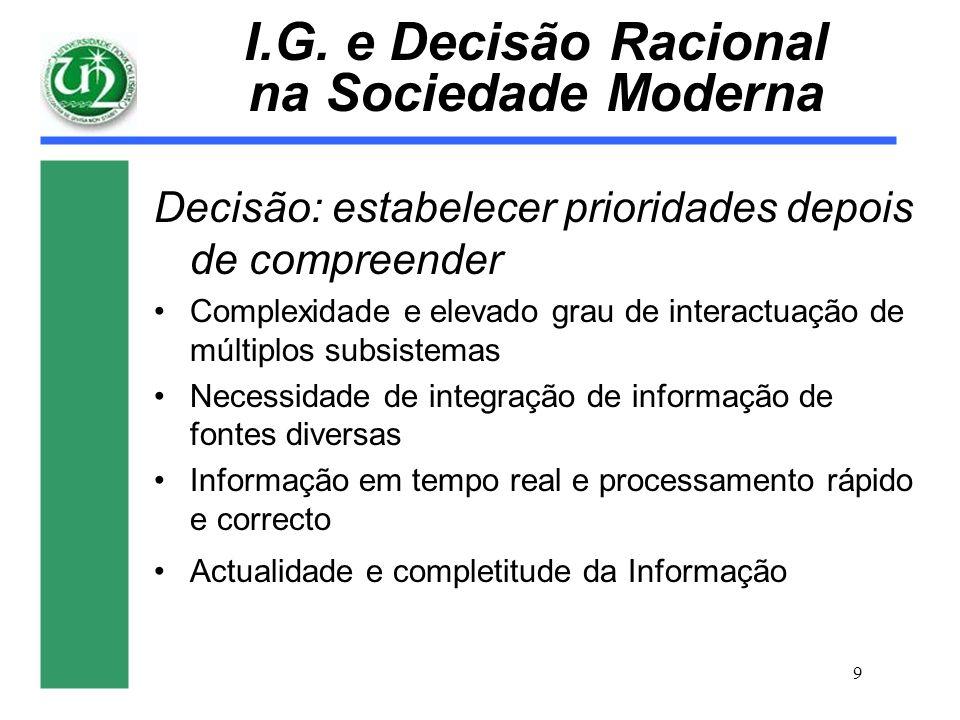 I.G. e Decisão Racional na Sociedade Moderna