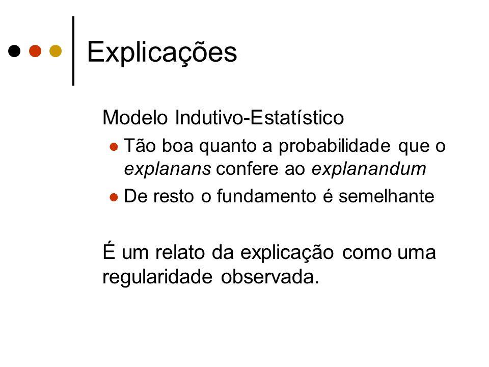 Explicações Modelo Indutivo-Estatístico