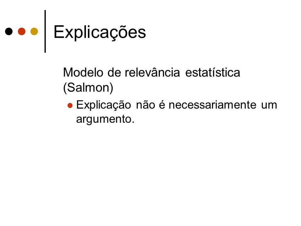 Explicações Modelo de relevância estatística (Salmon)