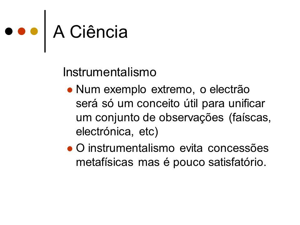 A Ciência Instrumentalismo