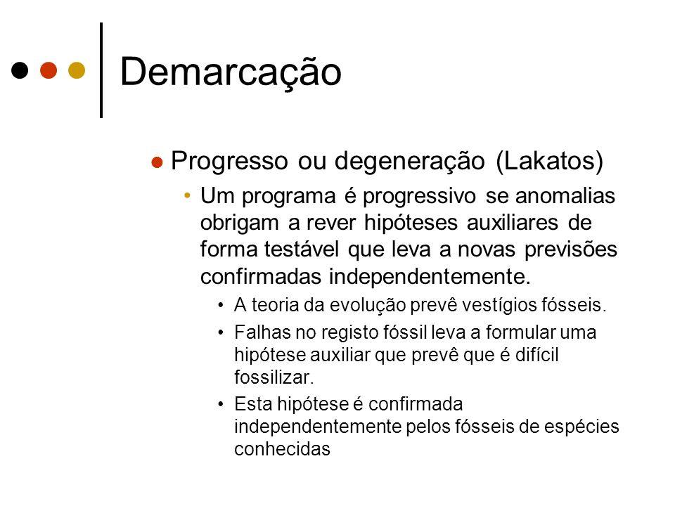 Demarcação Progresso ou degeneração (Lakatos)