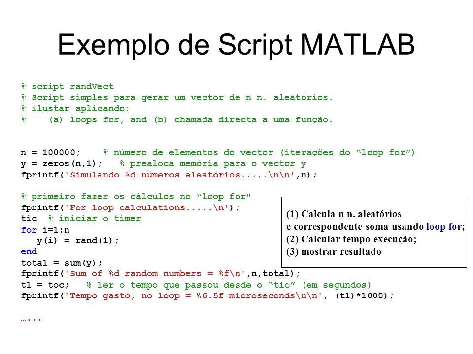 Exemplo de Script MATLAB