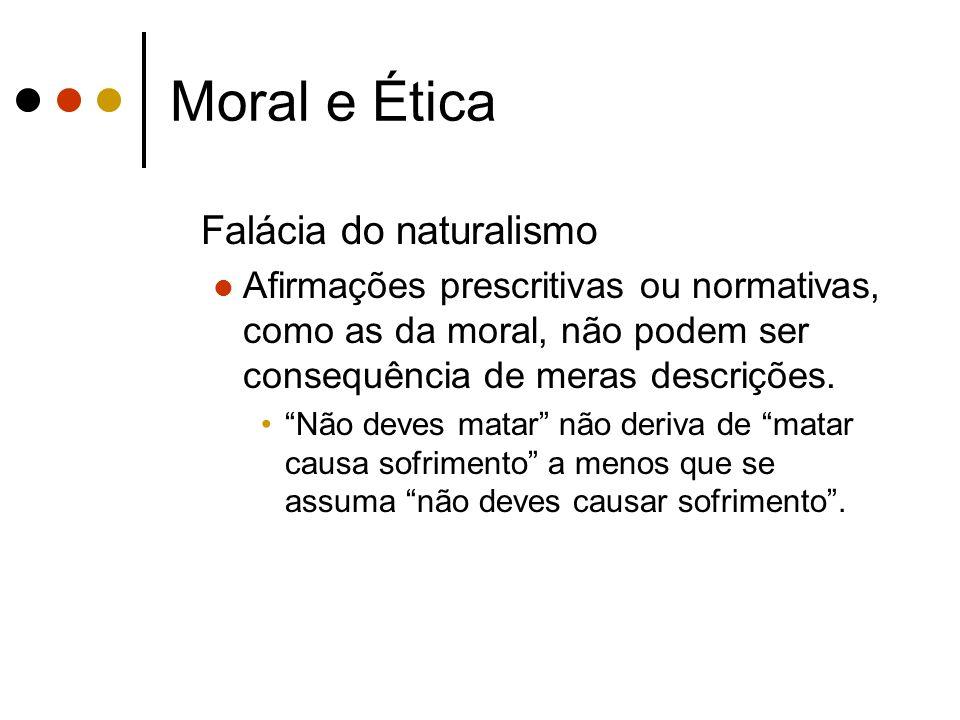 Moral e Ética Falácia do naturalismo