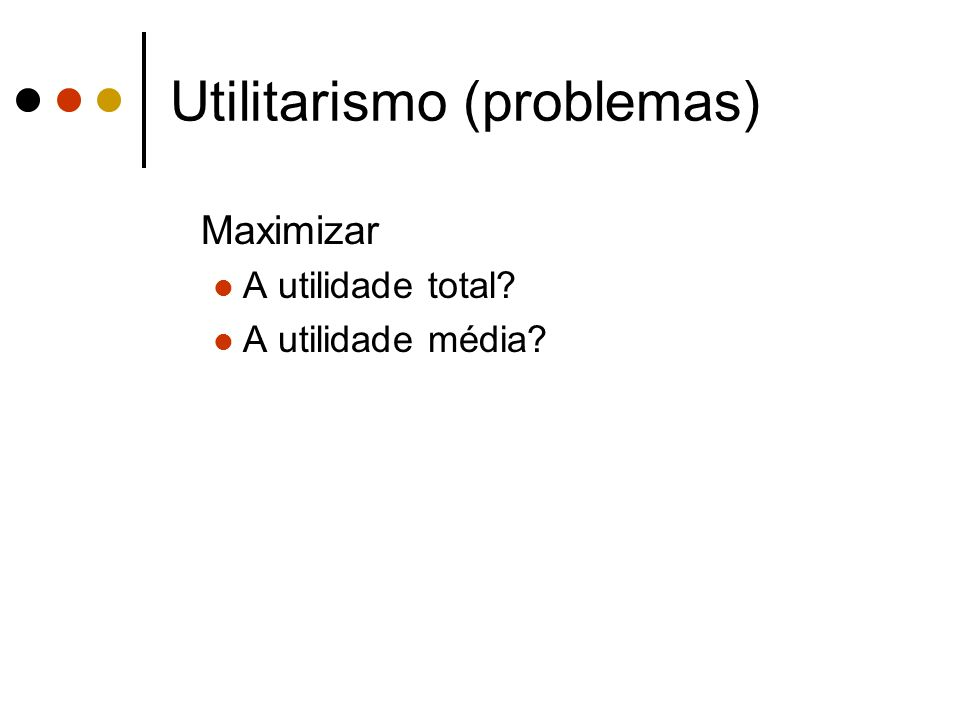 Utilitarismo (problemas)