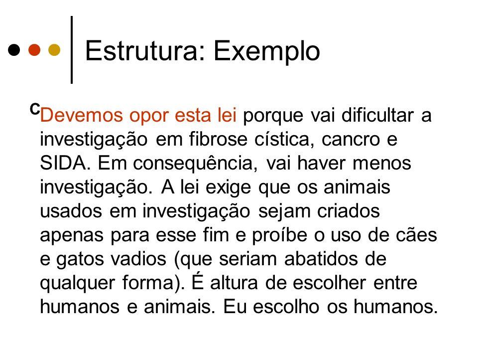 Estrutura: Exemplo C.