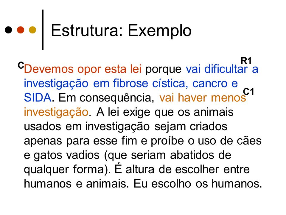 Estrutura: Exemplo R1. C.