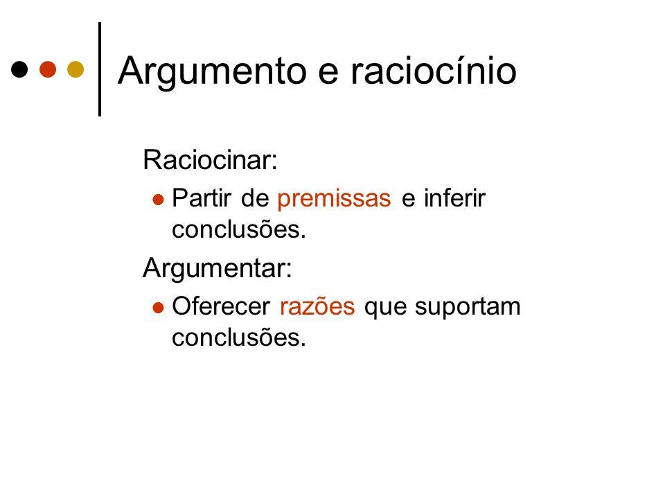 Argumento e raciocínio