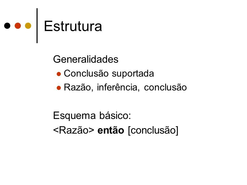Estrutura Generalidades Esquema básico: