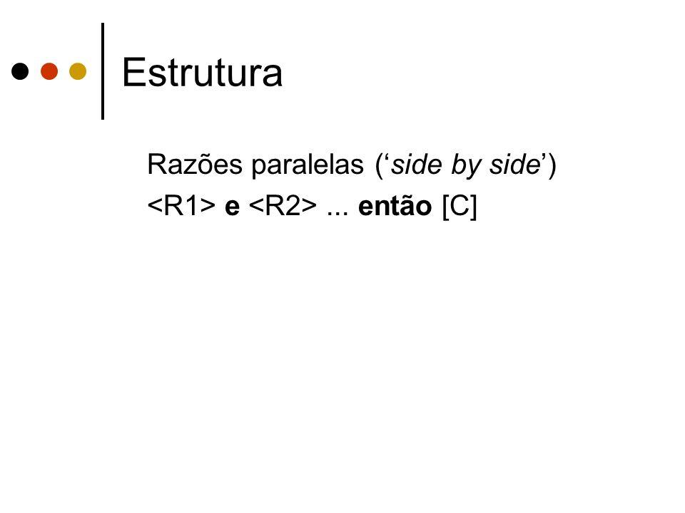 Estrutura Razões paralelas ('side by side')