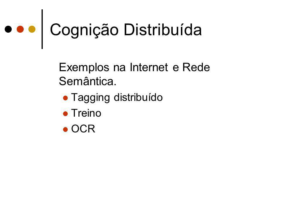 Cognição Distribuída Exemplos na Internet e Rede Semântica.