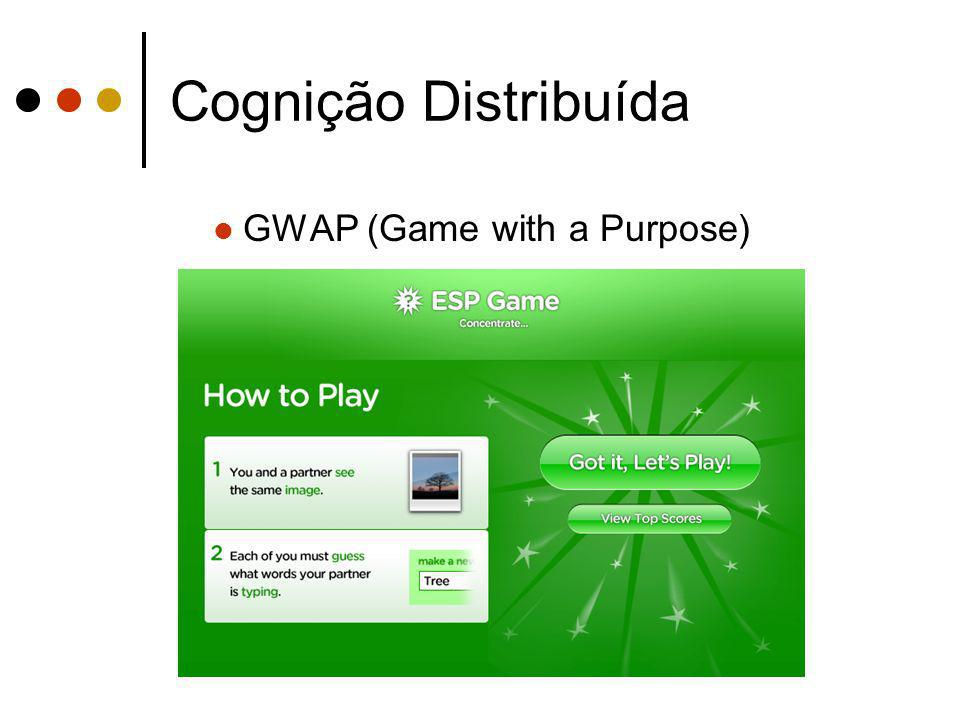 Cognição Distribuída GWAP (Game with a Purpose)