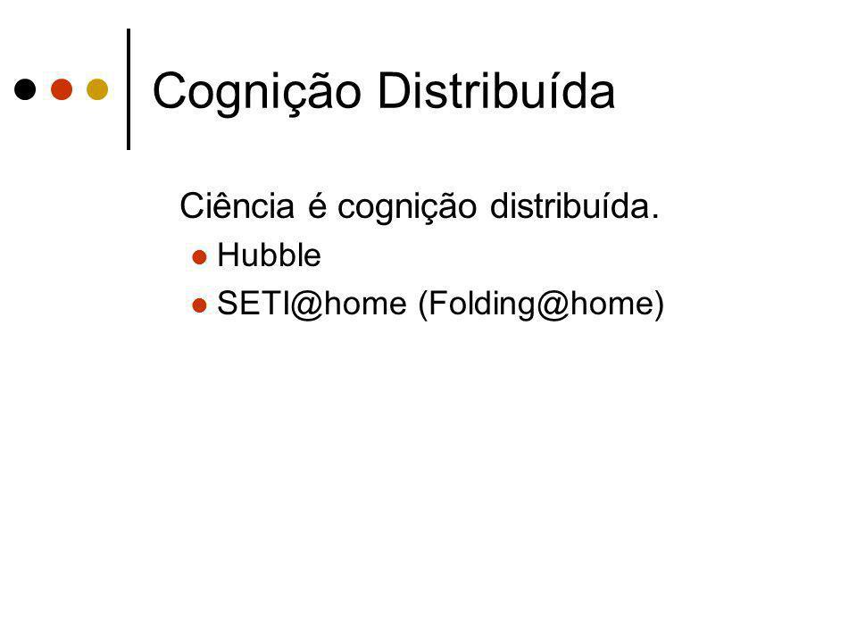 Cognição Distribuída Ciência é cognição distribuída. Hubble