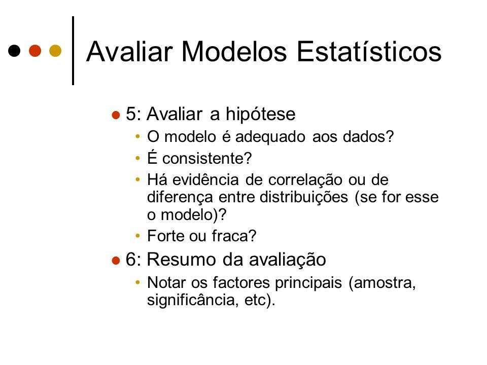 Avaliar Modelos Estatísticos