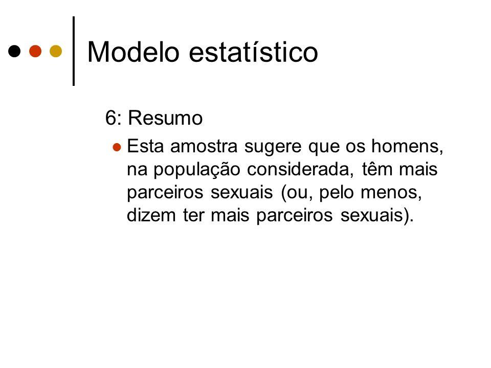 Modelo estatístico 6: Resumo