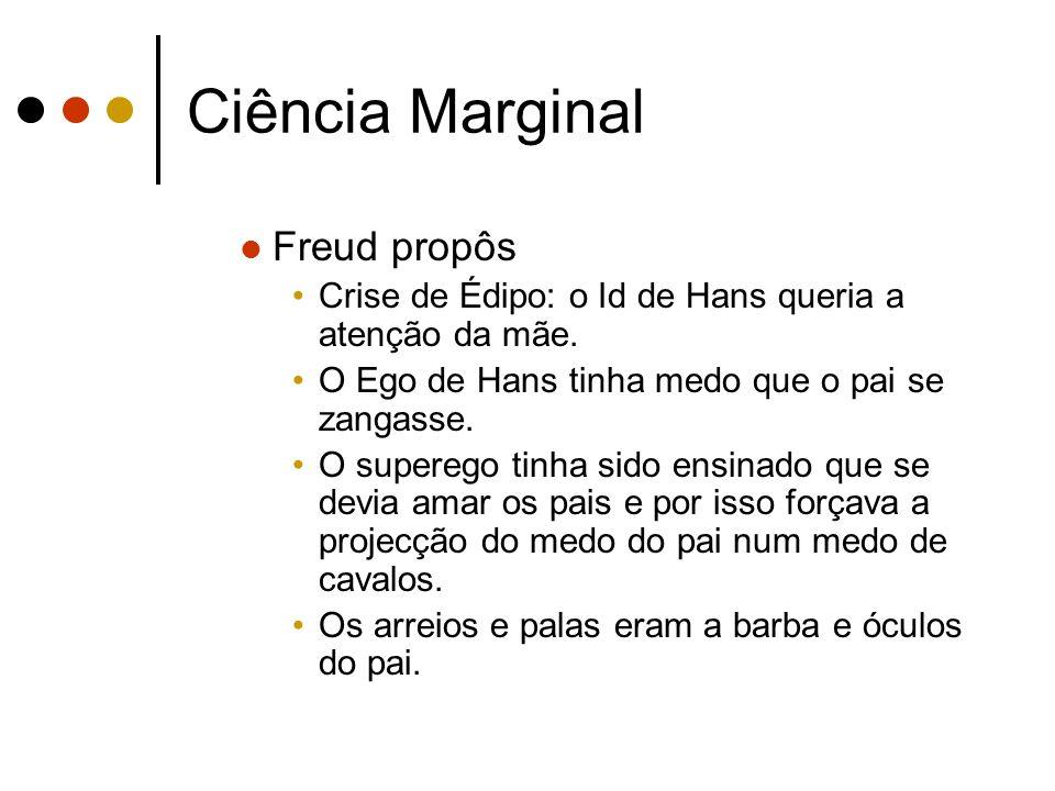 Ciência Marginal Freud propôs
