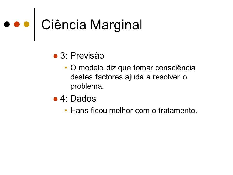 Ciência Marginal 3: Previsão 4: Dados