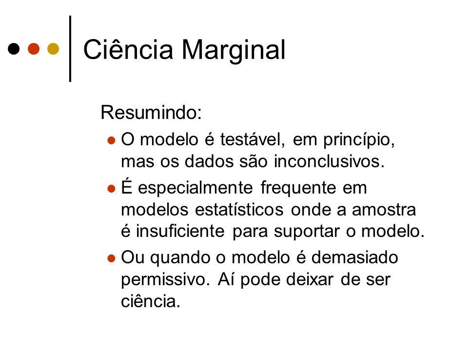 Ciência Marginal Resumindo: