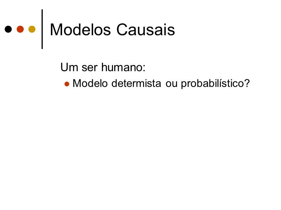 Modelos Causais Um ser humano: Modelo determista ou probabilístico