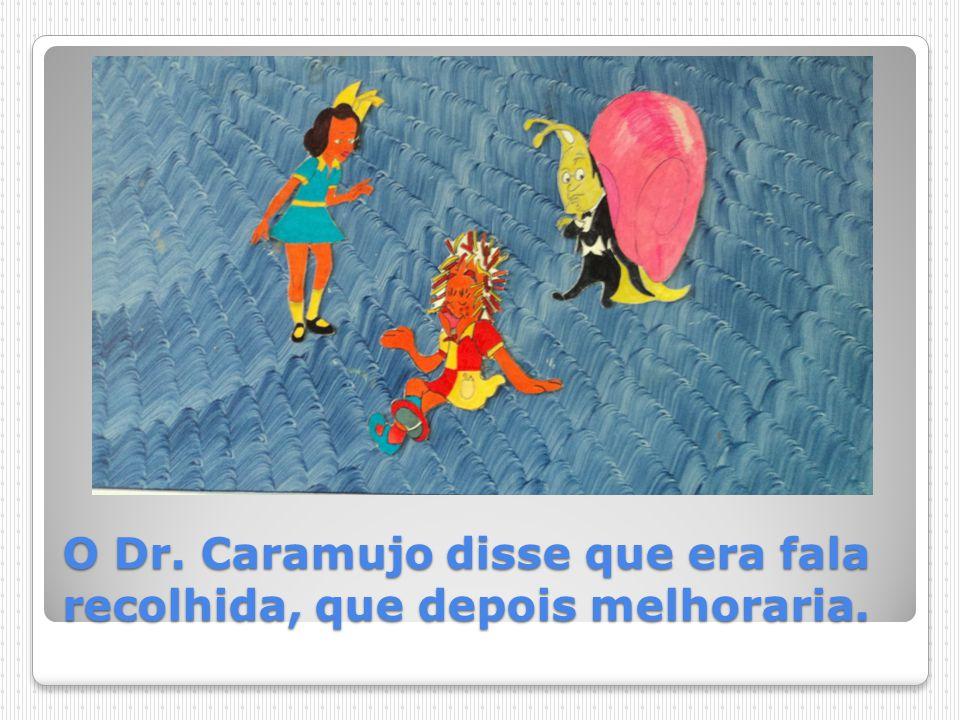 O Dr. Caramujo disse que era fala recolhida, que depois melhoraria.