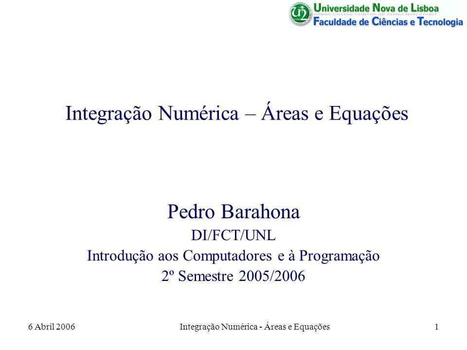 Integração Numérica – Áreas e Equações